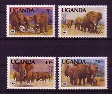 Uganda Michelnummer 361 - 364 postfrisch (WWF)
