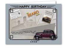 79th Birthday Card souvenir of 1938 (2017)
