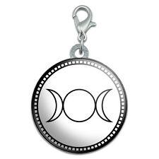 Triple Goddess Moon Stainless Steel Pet Dog ID Tag