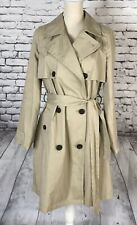 Madewell Abroad Trench Coat Beige Womens Size Medium