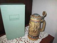 "Vintage AVON ""Indians of the  American Frontier"" Lidded Beer Stein 1988 #187547"