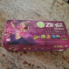 Zumba Fitness Exhilarate Body Shaping System 5 Dvd Set, Toning Sticks, Guide New