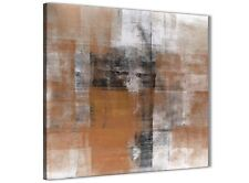 Orange Black White Painting Bathroom Canvas Wall Art - Abstract 1s398s - 49cm