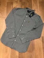 Brand new  Lyle & Scott slim fit gingham shirt  Slim fit  Woodland Green  Large.