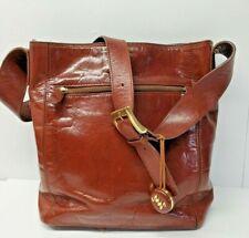 Monsac Brown Leather Shoulder Bag P