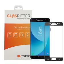 Samsung Galaxy J7 2017 Panzerfolie Schutzglas Schutzfolie 9H Glasfolie schwarz