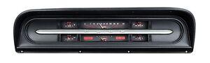 1967-72 Ford F100 Truck Pickup Dakota Digital Carbon Fiber & Red VHX Gauge Kit