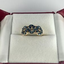 14k Solid Yellow Gold Cluster Flower Ring 2.59GM 2.42CT Size 6.75