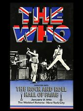 THE WHO Hall of Fame 1990 40.6cm x 30.5cm PHOTO REPRO CONCERT AFFICHE