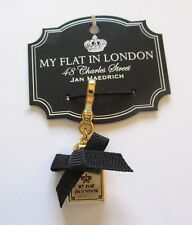 Brighton My flat In London- NO 48 charm gold- square -black cloth bow
