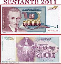 YUGOSLAVIA - 5000000 5.000.000 5 MILLION DINARA  1993 - P 121 -  FDS / UNC