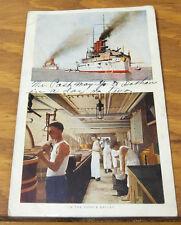 1909 COLOR Postcard /// BATTLESHIP MISSOURI