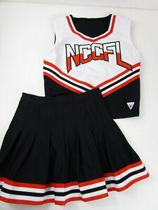 REAL VARSITY Cheerleader Uniform Cheer Outfit Costume Fully Pleated Skirt 36/25