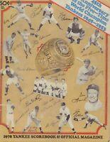 Yankees Scorebook And Program Vs Minnesota Twins 1978 012618nonr