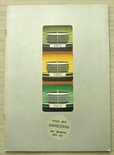 MERCEDES BENZ 200D 220D 240D Car Sales Brochure June 1973 #WZ 1526/00/02/0673