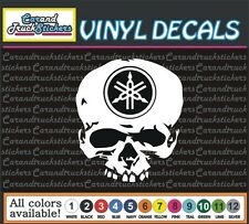 "4"" Yamaha Motorcycle Racing Skull Crossbones Vinyl Car Decal window sticker"