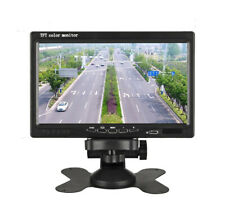 1024x600 7 inch HD 12V TFT Color LCD Universal Car Monitor Display 2 Video Input