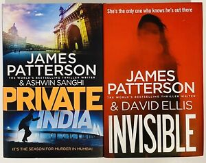 2 James Patterson Hardcover Books Invisible Private India Century Publishing