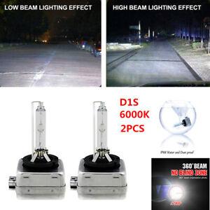 2PCS D1S 6000K Xenon Bulbs Lamps Hid Car Headlight White Light Waterproof IP68