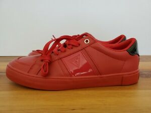 GUESS Men's Low Casual Sneakers Shoes. Red and Black Size 9 NEW