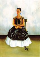 Frida Kahlo - Self-portrait with a dog - HUGE A1 59.4x84cm Canvas Print Unframed