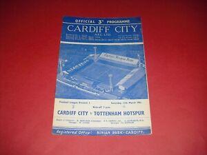 1960/61 CARDIFF V TOTTENHAM (1961)