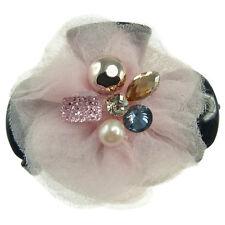 Pince à Cheveux griffe accessoire - pince crabe - tissu rose strass multicolore
