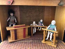 Jouet Ancien Ecole Poupée Mignonnette Miniature Antique French School Dollhouse