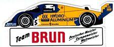 Team Brun Porsche Hydro Aluminium  Sticker Aufkleber Bellof Boutsen