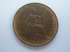 1951 GEORGE VI PENNY - RARE - UNCIRCULATED WITH LUSTRE - UK POST FREE