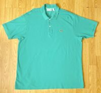 Lacoste Classic Fit Teal Turquoise Gator Polo Shirt Men's US Size 3XL