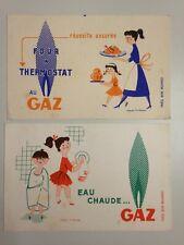 LOT 2 ANCIENS BUVARDS EAU CHAUDE - FOUR GAZ / D'APRES FIX - MASSEAU