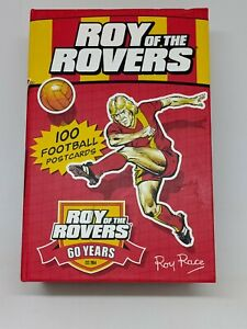 ROY OF THE ROVERS 100 FOOTBALL POSTCARDS IN THE FORM OF A BOOK.