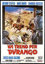 UN TRENO PER DURANGO MANIFESTO CINEMA DE SETA WESTERN ITA 1968 MOVIE POSTER 4F