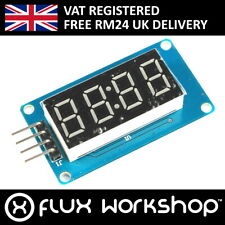 4 Digit Red 7 Segment LED Module TMH1637 Digital Clock Arduino Flux Workshop