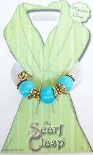 Scarf Clasp Clip Holder Magnetic Jewelry Turquoise Natural Stone for Scarf Shawl