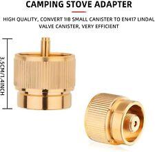 2Pcs 1L Portable Camping Stove Adapters, Propane Tank Input EN417 Valve Output