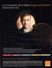 Publicité Advertising 018  2008  Réseau Orange cinéma séries George Clooney