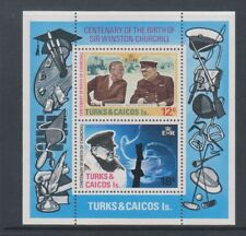 Turks & Caicos - 1974, Sir Winston Churchill sheet - MNH - SG MS432