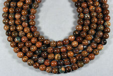 """NATURAL AFRICAN GREEN OPAL 10MM ROUND BEADS 16"""" STRAND"""