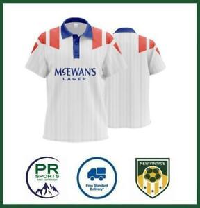 New Vintage Football Rangers 1992-1993 Retro Away Shirt Mens Polo