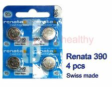 Renata SR1130S 390 Silver Oxide button Battery x 4 pcs Swiss Made FREE Post