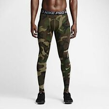 Nike Pro Cool Woodland Camo Training Tights Green Black Large L New Compression