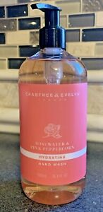 Crabtree & Evelyn ROSEWATER & PINK PEPPERCORN Hydrating Hand Wash 16.9 oz Pump