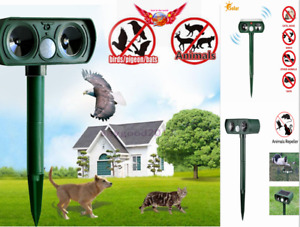 IPX4  Solar Power Animal Repeller Ultrasonic Cat Dog Outdoor Solar Ultrasonic