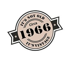 Non è vecchio intorno al 1966 ROSETTA Emblema PER CASCO DA MOTO AUTO ADESIVO VINILE