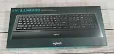 Logitech - K740 Illuminated Keyboard - Black