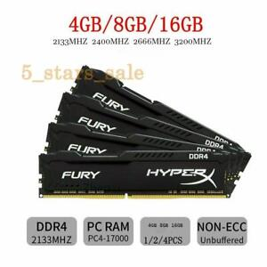 kingston hyperx fury 4GB 8GB 16GB DDR4 2133/2400/2666/3200 MHz DIMM desktop RAM