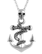 NWT Controse Pirate Punk Octo Skull Octopus Skulls Anchor Pendant Necklace CN098