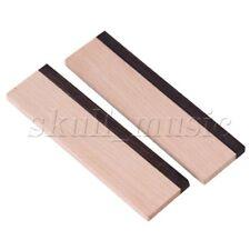2 x Maple Wood and Ebony Spider Bridge Blank Saddle for Dobro Guitar